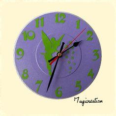horloge sur vinyl 45 tours célèbre petite fée malicieuse ;-)