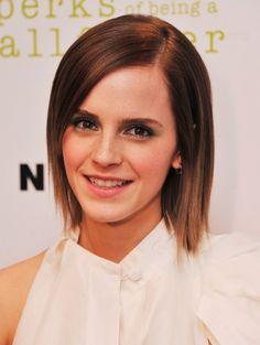 Emma Watson Short Straight Hairstyles 2013