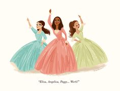 The Schuyler Sisters. The Hamilton fan art has... - The Art of ...