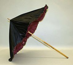 Parasol Date: 1880s Culture: American Medium: silk, wood Dimensions: [no dimensions available] Credit Line: Gift of Mr. William Drown Phelps, 1943 Accession Number: C.I.43.29.6