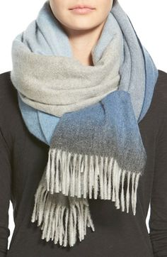 Nordstrom Collection Ombré Cashmere Wrap available at #Nordstrom