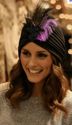 Talking Fashion And Beauty With Olivia Palermo Estilo Olivia Palermo, Olivia Palermo Style, Turban Hat, Turban Style, Turban Headbands, Fashion Sites, Fashion Advice, 20s Fashion, Hat Hairstyles