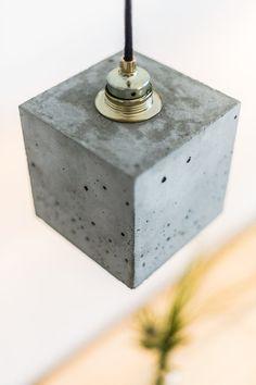 Lampe béton design or lampe béton B1 par GANTlights sur Etsy