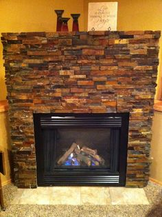 Bricking this fireplace was actually a fun home DIY !!