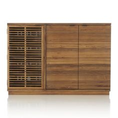 Marin Natural Large BarMedia Cabinet  Decor ideas  Home
