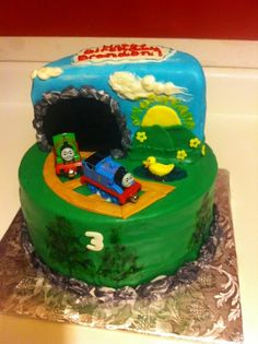 Thomas and Percy Tunnel Cake