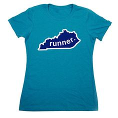 Womens Everyday Runners Tee Kentucky Runner - Show off your pride for Kentucky with this great Kentucky Runner State Tee.