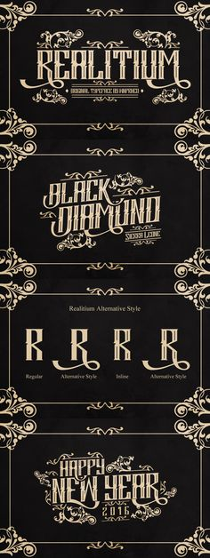 Realitium - Realitium is a vintage style blackletter font by WNPRH Collective.