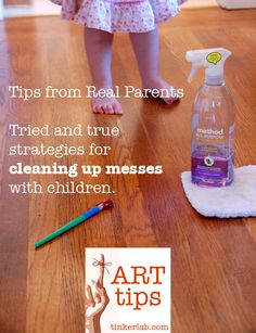 Art Tips: Real Parents share how to clean up art messes with children