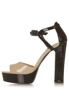 36a6e1966e0f LENA Patent Platform Sandals