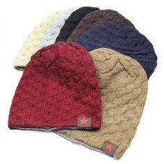 Knit Hat Warm Snow Caps Men Hat Reversible Beanie Hat Winter Autumn Women  Hat in Clothing 9253f409f016