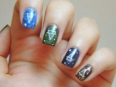 4 Elements nails - Galaxy nails - Symbols