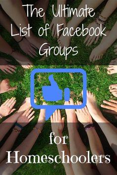 Master List of FB Homeschool Groups Pre K Homeschool Curriculum, Homeschooling Resources, Easy Peasy Homeschool, Thanksgiving Math, Rhyming Activities, Preschool Lessons, Home Schooling, Facebook, Number