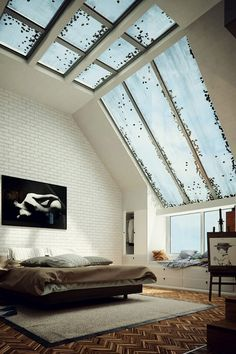 brick walls and massive windows <3
