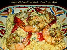The Weekend Gourmet: Linguini with Lemon Cream Sauce & Lemon Pepper Shrimp...Featuring California Lemons from Limoneira