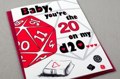 Dungeons and Dragons  Valentine Card  Baby by PaperTigerGifts