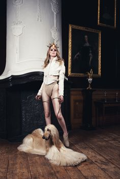 Astrid Heuker by Ismar Basic for Sicky Magazine | Afghan Hound