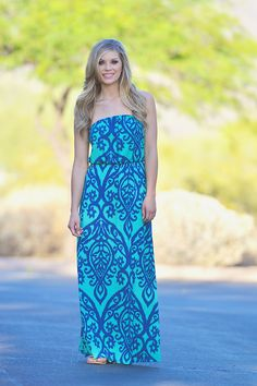 ****Use code REPLAUREN for 10% off PLUS FREE SHIPPING**** Like a Love Song Strapless Maxi - Jade from Closet Candy Boutique