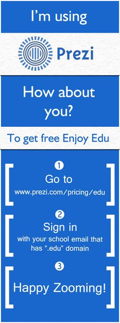Do you have a school email? If yes!, what are you wating for to upgrade your Prezi license for free! #prezi #free http://prezi.com/pricing/edu/