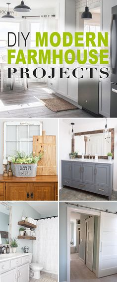 DIY Modern Farmhouse Projects! • Lots of tips, ideas and tutorials on how to achieve that modern farmhouse look for your home!