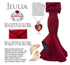 """""""Design of the day"""" by mell-2405 ❤ liked on Polyvore featuring Zac Posen, L.K.Bennett, Christian Louboutin, women's clothing, women's fashion, women, female, woman, misses and juniors"""