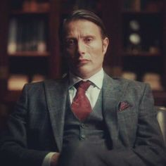 Mads Mikkelsen as Hannibal Hannibal Suit, Hannibal Funny, Dr Hannibal, Hannibal Lecter Series, Top Villains, Winter Suit, Gary Oldman, People Of Interest, Mads Mikkelsen