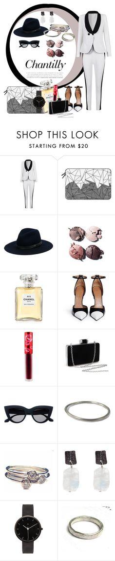 """""""Mysterious spirit"""" by ann-sarah on Polyvore featuring mode, Casetify, rag & bone, Chanel, Givenchy, Lime Crime, Catherine Marche et I Love Ugly #2016 #fashionset #chic #classy #elegant #luxe #leather #trend #businesswoman #women #blackandwhite #aesthetic #dark #polyvore #polyvorefashion #chanel #makeup #limecrime #lipstick #perfume #catherinemarche #rings #silver #earrings #jewells #honeycouture #suits #givenchy #shoes #highheels  #sunglasse #freyrsmagnolia #fedora #ragandbone #samuelwatch"""