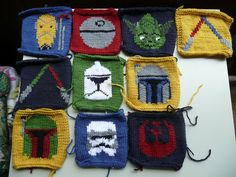 Star Wars Afghan: knitting charts by Leah Fenton