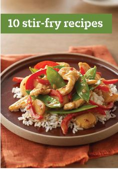10 Stir-Fry Recipes -- Get ready to wok and roll with these tasty stir-fry recipes and tips! Stir-fries are quick, easy and (more importantly) a delicious way to enjoy chicken, beef, and pork.