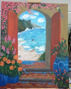 "My painting nr. 4 after the original ""A legacy of aloha"" by Mikki Senkarik"