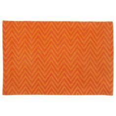Zig Zag Rug (Orange)  | Crate and Barrel