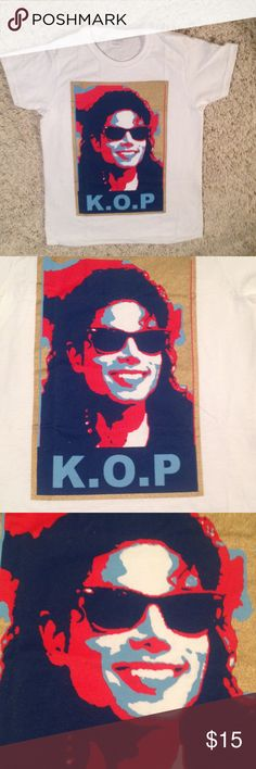 Michael Jackson Tee Shirt ..one small left K.O.P. King of pop says  it all.  Only one size small left. New Tops Tees - Short Sleeve