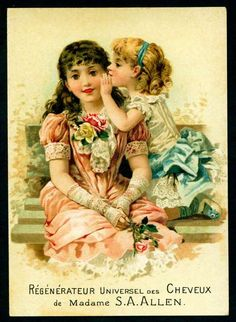 Vintage trade card, how sweet.
