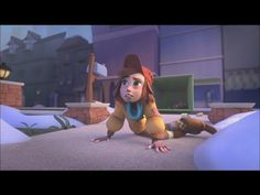 "Animated Shorts HD: ""Can I Stay"" An apprehensive homeless girl who must traverse a dangerous, wintry city in order to escape her adorable pursuers. Film Gif, Film D'animation, Video Film, Film Movie, Animation Stop Motion, Animation Film, Wordless Book, Pixar Shorts, Disney Pixar"