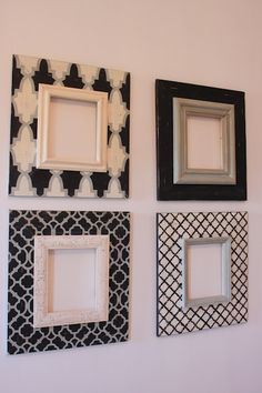 This item is unavailable,Set of 4 Distressed Frames in Imperial Grey, Black and Vintage Cream on Etsy, Sold Frames are decorative accessories that surround the moments yo. Frame Crafts, Diy Frame, Metal Wall Decor, Diy Wall Art, Home Confort, Marco Diy, Painted Picture Frames, Delta Girl, Distressed Frames