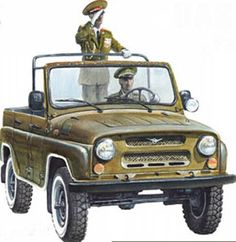 Soviet Army UAZ-469 (with canvas top cover and side windows token off)