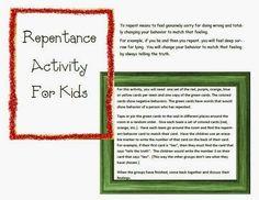 Bible Class Creations: Repentance Activity