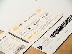 Train ticket detail. Layout Design, Print Design, Type Design, Design Art, Design Ideas, Wedding Stationery, Wedding Invitations, Ticket Invitation, Web Design Training