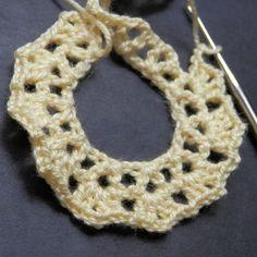 Row 2 of the crochet rose