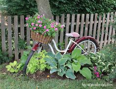 Garden Art - A Vintage Bicycle in a Shade Garden