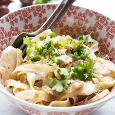 Pasta met aardperen ---- lekker maar heel machtig aardpeer met pasta.