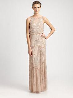 Blush Aidan Mattox Beaded Blouson Gown...Just Beautiful
