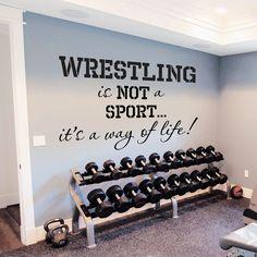Wall Decals Quotes Sport Wrestling Gym Bedroom Decal Vinyl Sticker Decor DA3786 #STICKALZ #MuralArtDecals