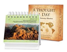 A Thought a Day - Travel, Discovery, Adventure: A Daily Desktop Quotebook / 365 Day Perpetual Calendar