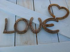 Horse Shoe Love Sign by CaseyLeeCrafts on Etsy