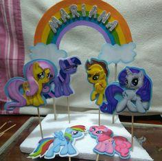 Motivo de torta My Little Pony, información y pedidos al Whatsapp 3155334040.