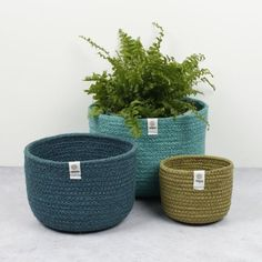 ReSpiin Tall Jute Basket Set - Ocean Tall Basket, Crop Rotation, Jute Sack, Large Baskets, Storage Baskets, Biodegradable Products, Cleaning Wipes, Hand Weaving, Tulip