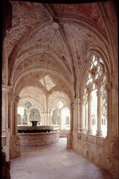 Monasterio de Poblet, Spain.The Royal Abbey of Santa Maria de Poblet is a Cistercian monastery, founded in 1151, located at the feet of the Prades Mountains, in the comarca of Conca de Barberà, in Catalonia.