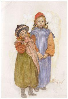 Carl Larsson, Carpenter Hellberg's Children, 1906, Watercolor, Göteborgs Konstmuseum, Göteborg