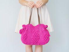 BAG //  Pink Bag Crochet Bag Summer Bag  Handbag